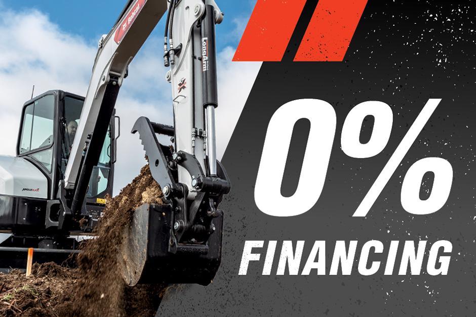 0% Financing on Bobcat Excavators